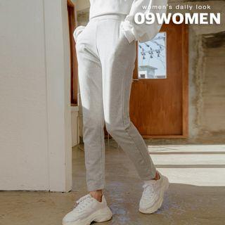 Seoul Fashion - Band-Waist Baggy Sweatpants