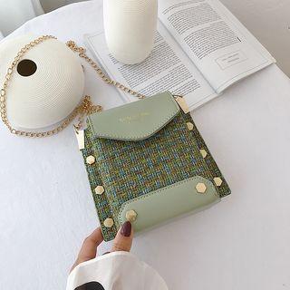 Necessita - Woven Paneled Crossbody Bag