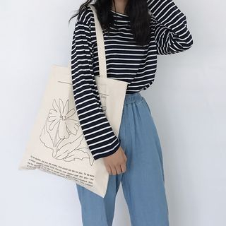 TangTangBags - Daisy Print Canvas Tote Bag