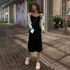 Whoosh - Light Jacket / Spaghetti Strap Dress