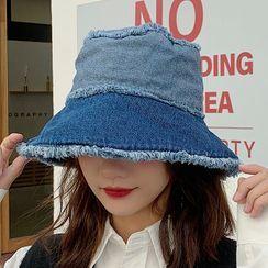 Pompabee - Fleece-lined Denim  Bucket Hat