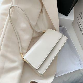 Shimme - Faux Leather Flap Shoulder Bag