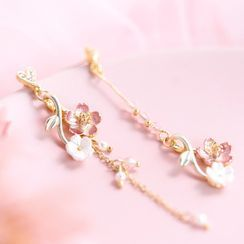 Pink Unicorn - 花朵耳坠 / 耳夹