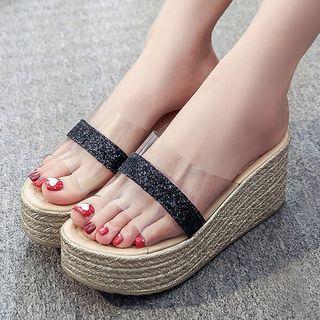 Weiya - Wedge Slide Sandals