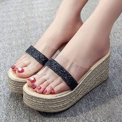 Weiya - Wedge Slide Sandals