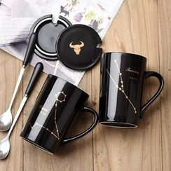 Youcci - Mug With Cap And Spoon/Gift Box
