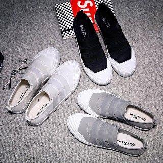 Solejoy - Elastic-Strap Canvas Sneakers