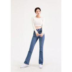 chuu -  -5kg Semi Boot-Cut Jeans vol.112