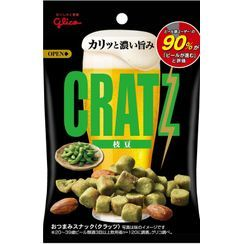 Glico - CRATZ Green Peas Flavor Almond Beer Snack 42g