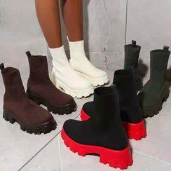 Avanti - Platform Knit Short Boots
