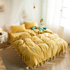 Carell - Print Bedding Set: Bed Sheet + Duvet Cover + Pillow Case