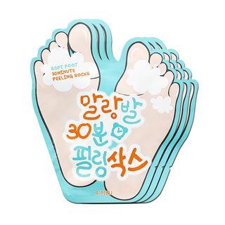A'PIEU - Weiche Fuß 30 Minuten Peeling Socken 3pairs