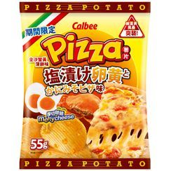 Calbee - [Limited] Salted Egg Yolk & Crabroe Pizza Flavored Potato Chips 55g