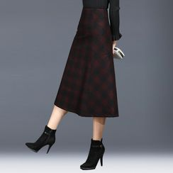 Cocabelli - Gingham A-Line Skirt