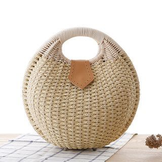 STYLE CICI - Woven Round Hand Bag