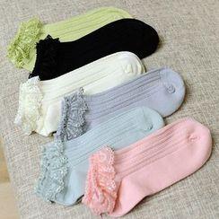 Sock Kingdom - Lace-Trim Socks