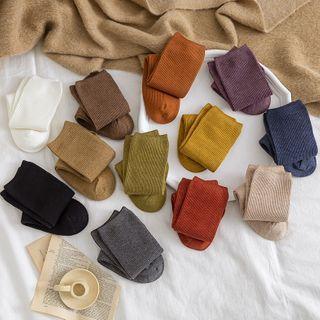 Nikkocampus - Set of 5: Plain Long Socks