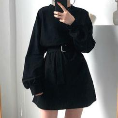 CosmoCorner - 純色長袖修身連衣裙