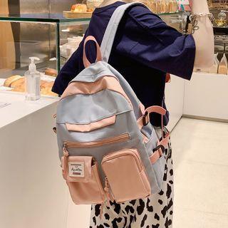 KAMELIS - Two-Tone Nylon Backpack