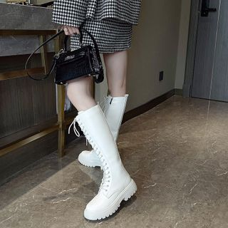 kokoin(ココイン) - Lace-Up Tall Boots