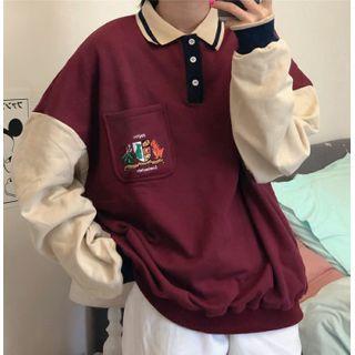 IndiGirl - Two Tone Polo Shirt