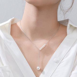 A'ROCH - 925純銀仿珍珠吊墜Y項鏈