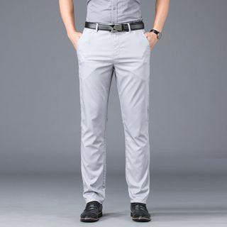 Denimic - 純色直筒褲