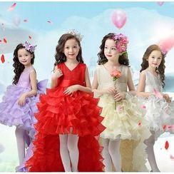 Doveark - Kids Sleeveless Party Dress