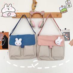 OUCHA - Rabbit Brooch Lightweight Crossbody Bag