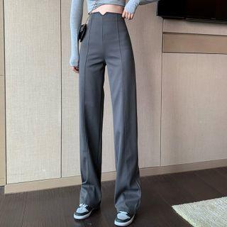 Cheto - 高腰直筒西裤