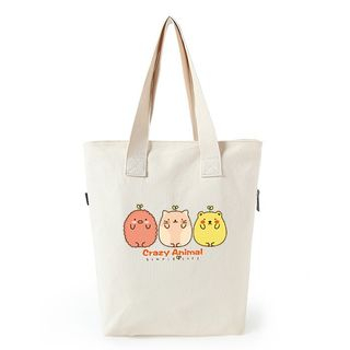 Lozynn - 動物印花帆布購物袋