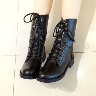 Weiya - Lace-Up Short Boots