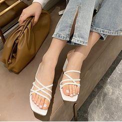 Anran - Multi Strap Block Heel Sandals