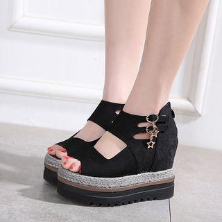 安若 - 內增高厚底涼鞋