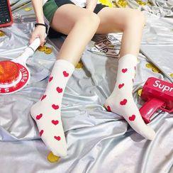 ASAIDA - Heart Print Socks