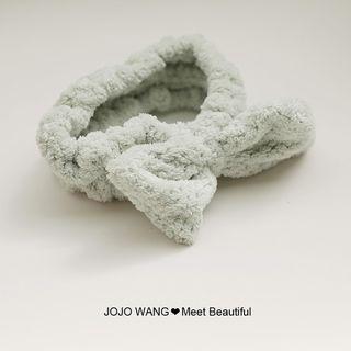J. Wang - Chenille Bow Face Wash Headband