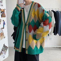 Groove Tower - Patterned Panel Cardigan