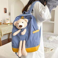 OUCHA - 熊装饰背包