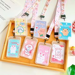 Eranso - Cartoon Print Neck Strap Card Holder