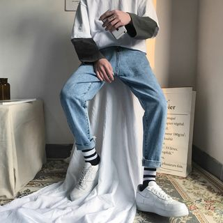 子俊 - 纯色直筒牛仔裤