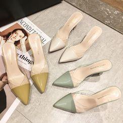 RE: 5 - 仿皮高跟鞋