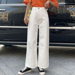 DREE - High-Waist Wide-Legged Jeans