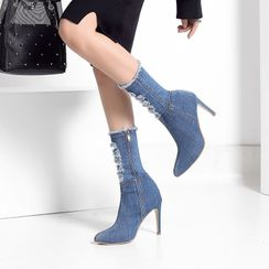 Artiz(アーティッツ) - High-Heel Denim Ankle Boots