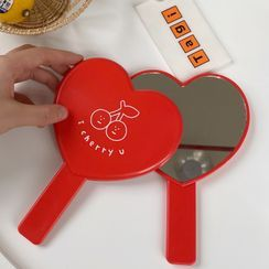 Olsin - 塑胶心心便携镜子