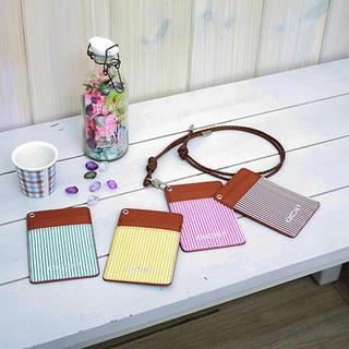 BABOSARANG - Striped Card Holder with Strap