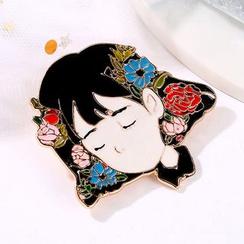 Cheermo - Girl Pin Brooch (Various Desigsn)