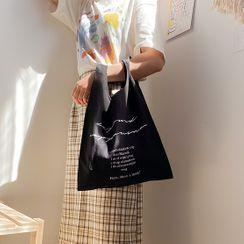 TangTangBags - 字母帆布购物袋