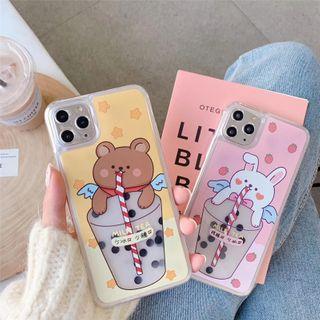 Galeon - Bubble Milk Tea Print Mobile Case - iPhone 7 / 7 Plus / 8 / 8 Plus / X/ XR / XS / XS MAX / 11 / 11 Pro / 11 Pro Max