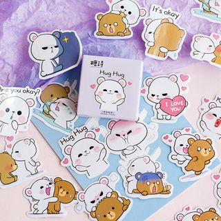 Milena - Cartoon Bear Stickers