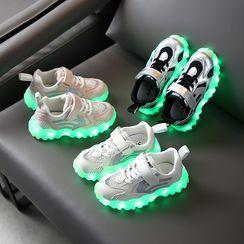 Creayu - 小童厚底网纱休閒鞋